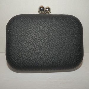 Style & Co Black Clutch with Chain Strap